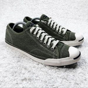 Converse Jack Purcell Green Canvas Shoes